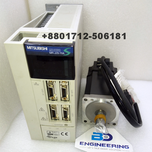 Servo Motor & Drives Mitsubishi 400W Supplier in Bangladesh MR-J2S-70A