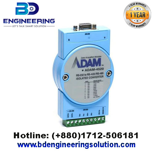 ADAM-4520-EE Isolated RS 232 to RS 422485 Converter