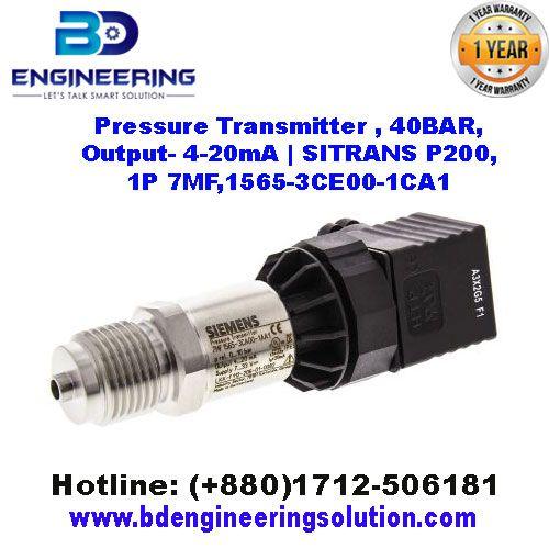 Pressure Transmitter , 40BAR, Output- 4..20mA
