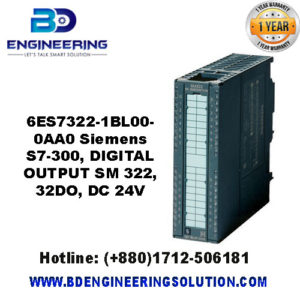 6ES7 322-1BL00-0AA0 Siemens S7-300, DIGITAL OUTPUT SM 322, 32DO, DC 24V