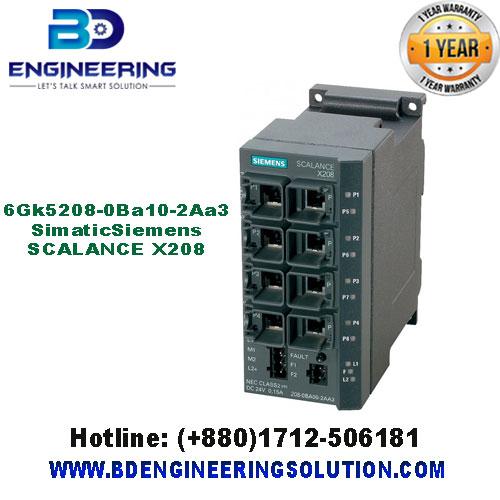 6Gk5208-0Ba10-2Aa3 Simatic Siemens SCALANCE X208
