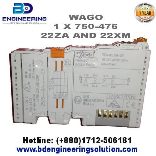 2-Channel Analog-Input-Module 750-476 WAGO