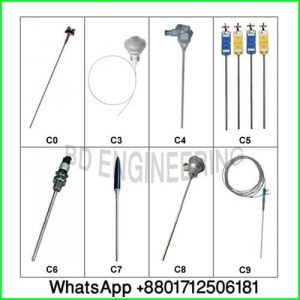 PT100- J-K type Thermocouples
