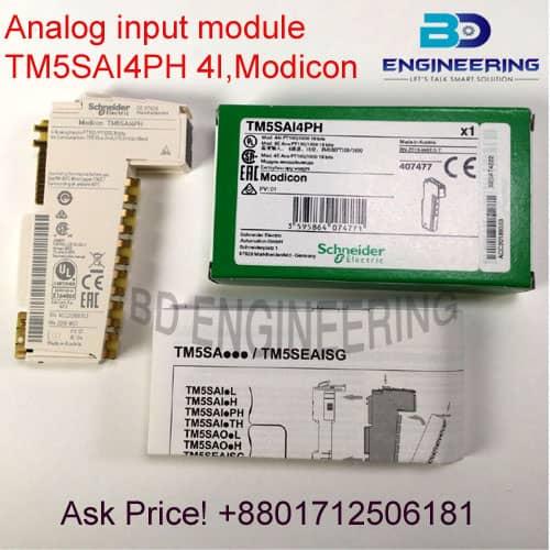 Analog input module TM5SAI4PH 4I Modicon Schneider